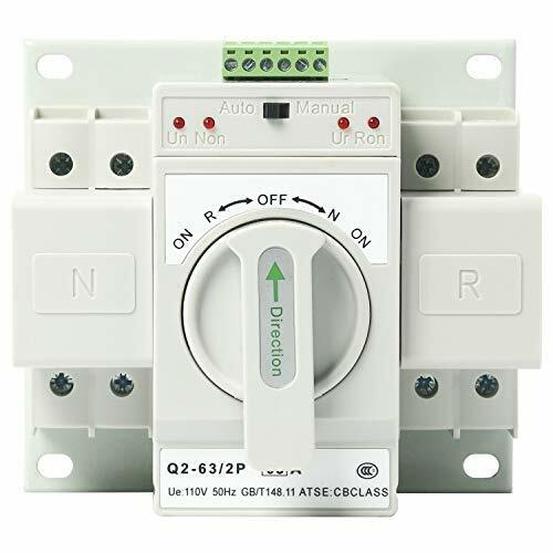 110V 2P 63A MCB Dual Power Automatic Transfer Switch Generator Changeover Switch