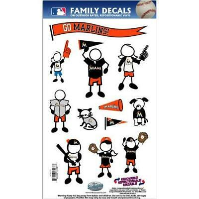 Miami Marlins Medium Family Decals 9 Pack  MLB Auto Car Stic