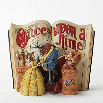 "Disney Traditions by Jim Shore ""Beauty and the Beast"" Storybook Stone Resin 6"""