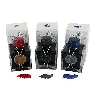 J.Herbin 1670 Anniversary Bottled Fountain Pen Ink, 50ml - Assorted Set