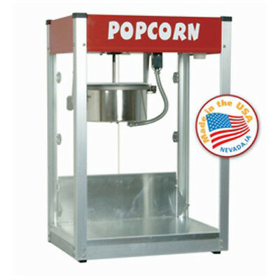Paragon 8 Oz. Theater Popcorn Machine Thrifty Red Style Concession Snack 1108510