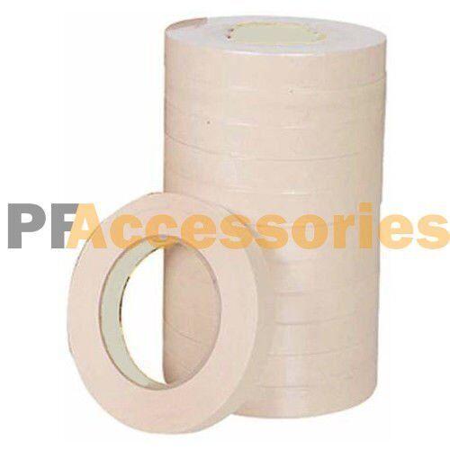"15 Rolls 60 FT General Purpose Masking Tape 0.7"" inch Adhesive Ivory White Bulk"