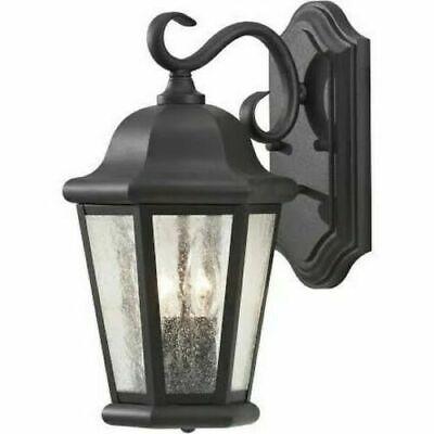 Feiss OL5901BK Martinsville Outdoor Patio Lighting Wall Lantern, Black, -