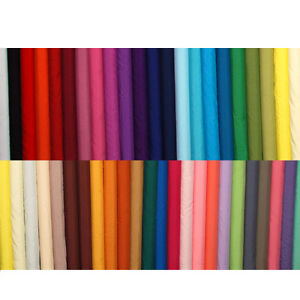 Plain-Solid-POLYCOTTON-FABRIC-sold-per-1m-METRE-112cm-44-Wide-Listing-no-2