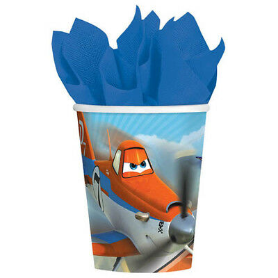 DISNEY PLANES 9oz PAPER CUPS (8) ~ Birthday Party Supplies Beverage Drink Dusty - Dusty Party Supplies