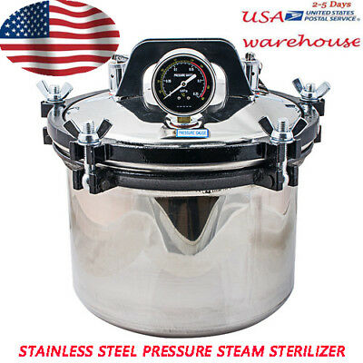 8l Medical Dental Steam Autoclave Sterilizer Sterilization Pressure Power Cord
