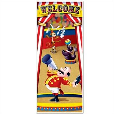 Circus Tent Decorations (Circus Tent All-Weather Door Cover Circus Birthday Party Decoration)