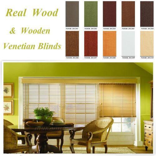 Wood Slat Blinds Ebay