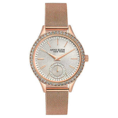 Anne Klein New York 12/2306SVRG Women's Swarovski Crystal Rose Gold Watch