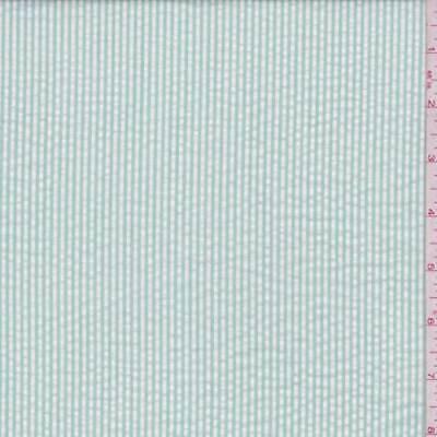 Mint Stripe Seersucker, Fabric By The Yard ()