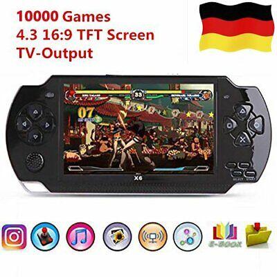 Spielekonsole Für Kinder 4,3 Zoll Video Handheld Spielkonsole Spieler 8GB X6
