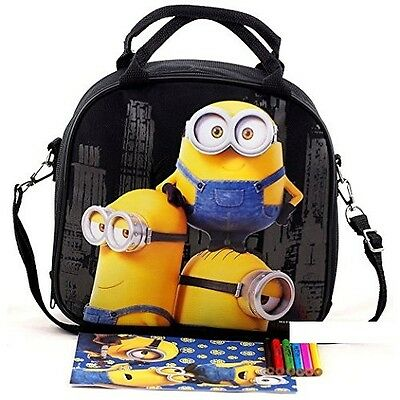 Minion Lunch Box (Licensed Despicable Me Minions Insulated Kids Lunch box Bag Food container)