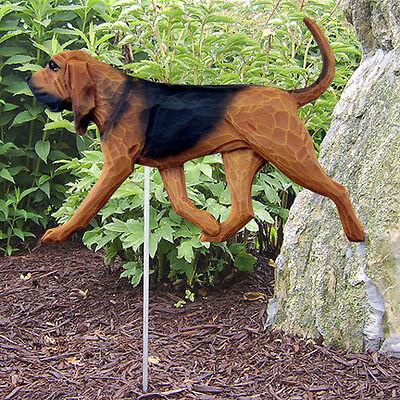 Bloodhound Outdoor Garden Sign Hand Painted Figure Red/Black