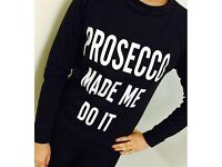 Black Prosecco jumper