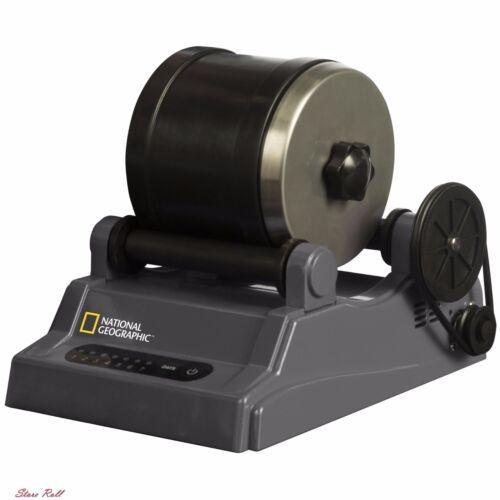 The Rock Tumbler Set Kit Rotary Model Drum Barrel Stone Metal Polisher Grit Toy