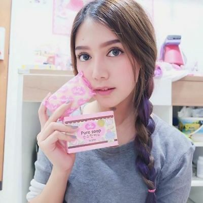 Best Pomotion!! Jelly Gluta Pure Soap Face Body Skin Aura Whitening Reduce