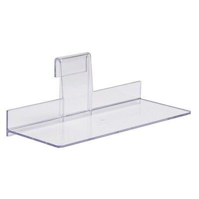 Gridwall Shoe Shelf 4 X 10 Display Flat Styrene Clear Acrylic - 12 Pcs