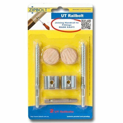Zipbolt UT Railbolt 13.610 Connects Staircase Handrails to Spindles, 1-Pack