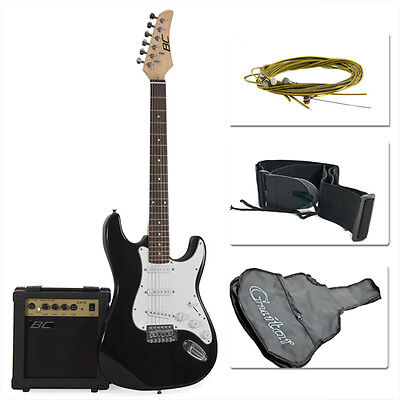 Full Size Electric Guitar + 10 Watt Amp + Gig Bag Case + Guitar Strap Beginners on Rummage