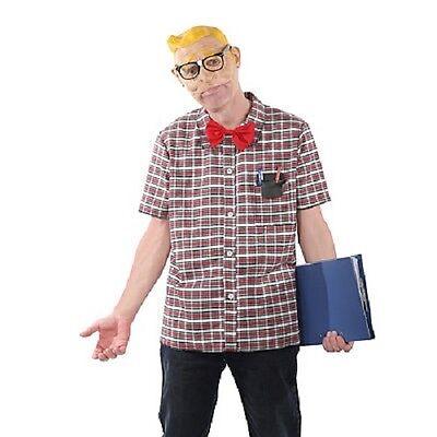 Halloween Geek Costume (SUPER NERD GEEK MENS DELUXE HALLOWEEN COSTUME SIZE)