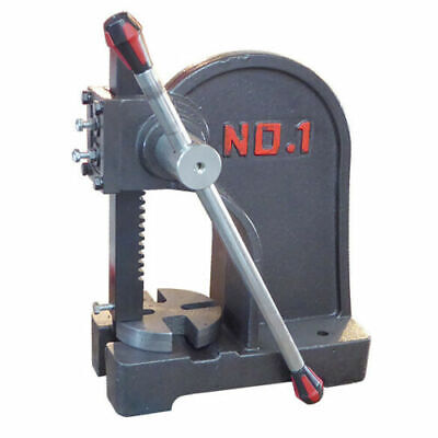 1 Ton Arbor Press Solid Metal Machine Lever Bench Mountable Bearings U Joints