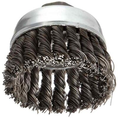 Weiler 36038 Extra Coarse Grade Knot Wire Cup Brush 3 X 58-11 0.02 Wire