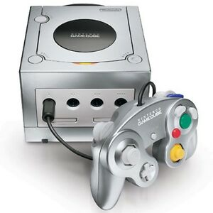 Nintendo game cube with two controllers