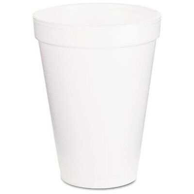 Dart Insulated Foam Cups - 12 Oz - 1000carton - Styrofoam - White 12j16
