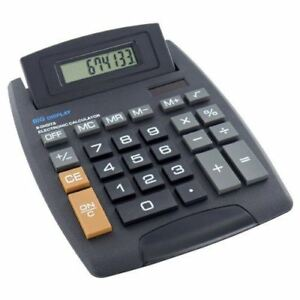 Jumbo Home Office Desktop Calculator 8 Digit Large Button School Battery