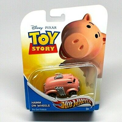 2011 Mattel Disney Pixar Hot Wheels Toy Story HAMM ON WHEELS DieCast Vehicle New
