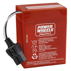 6 Volt Red FISHER PRICE POWER WHEELS BATTERY