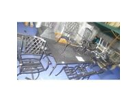 BARGAIN!!! A Yamashita six seater aluminium dining set from Wayfair - Brand new but slight damage
