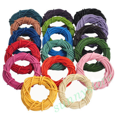 5M 1.5/2mm Round Rope Leather String Cord For Necklace Bracelet Making Supplies