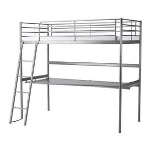LIKE NEW Ikea Metal Loft Bed