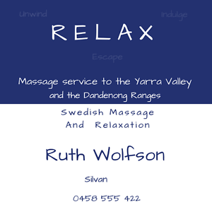 RELAX SWEDISH MASSAGE Silvan Yarra Ranges Preview