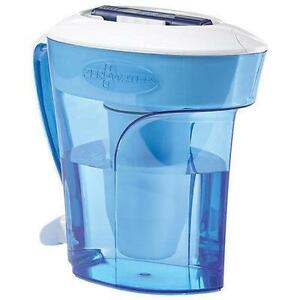 ZeroWater 10-Cup Water Filtration Pitcher (ZD-010C) - Blue/ White