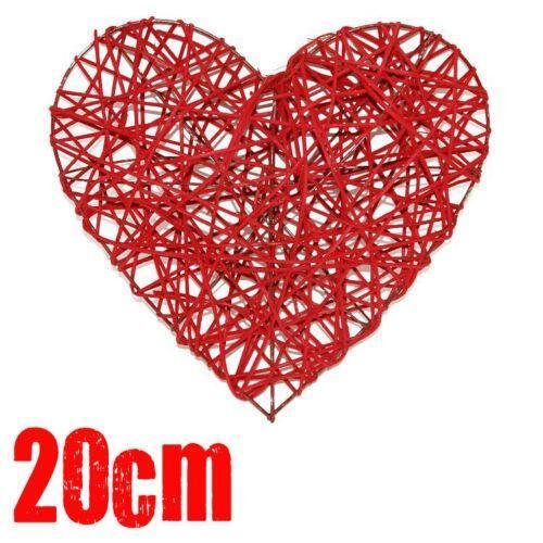 Red Wicker Heart Floral Supplies Ebay