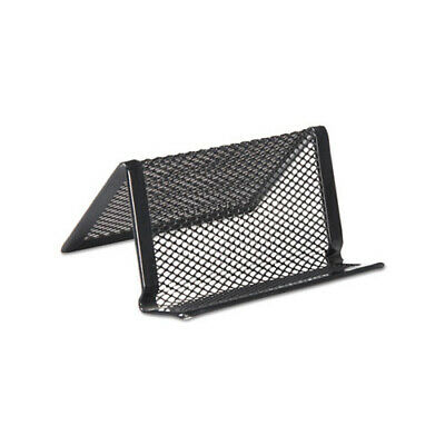 Metal Mesh Business Card Display Holder Black 50card Cap Organize Desk Unv20005