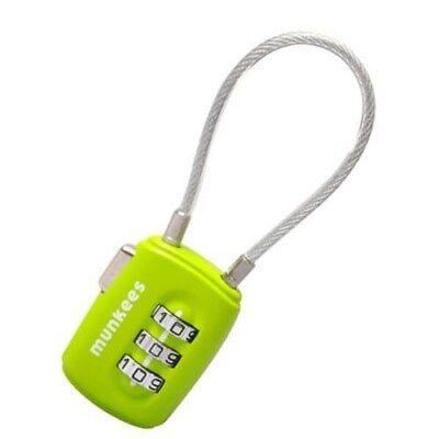 Munkees kofferslot kabel combinatieslot - Groen