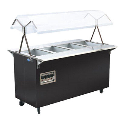 "Vollrath 3871160 60"" Affordable Portable Storage Base Hot Food Station (Black)"