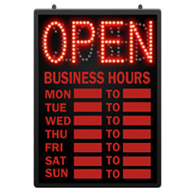 Retails Led Open Closed Sign With Hour 16 58 In W X 1 58 In D X 23 In