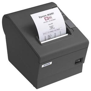 Epson TM-T88IV - Thermal Receipt/Label Printer - Serial Connection - Monochrome - Black - Comes with AC Adapter