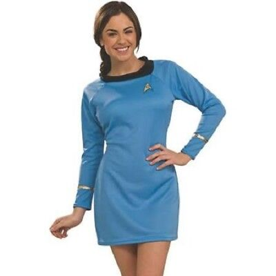 Star Trek SCIENCE Costume BLUE Outer Space Halloween Adult Small NEW FREE SHIP (Science Halloween Costumes)