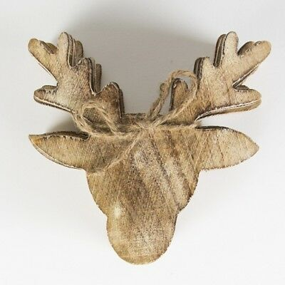 Sass & Belle Set of 6 Wooden Stags Head Coasters - Women`s Christmas Gift - Christmas Headband Ideas