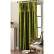 Green Tab Top Curtains