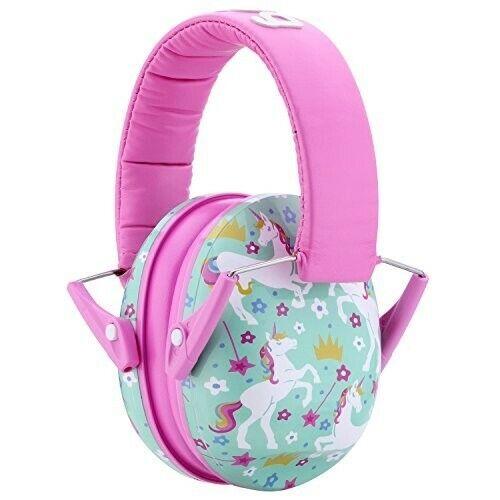 🦄 Snug Kids Earmuffs Hearing Protectors Ear Defenders Pink Green Unicorn Noise