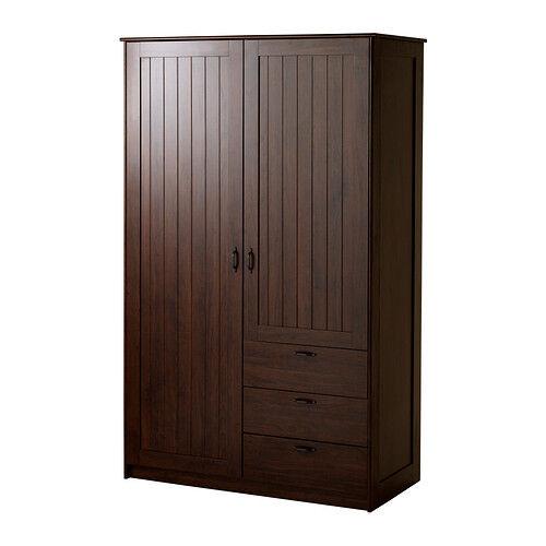 Brand New Ikea Musken Dark Brown Wardrobe With Original