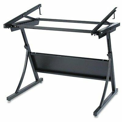 Safco Planmaster Adjustable Drafting Table Base - 37.5 Height - Steel - Black