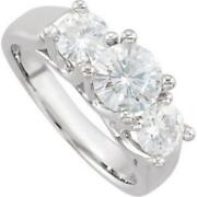 Moissanite 3 Stone Ring