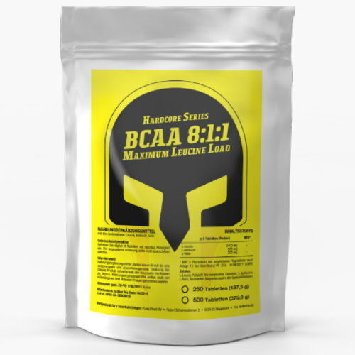 250 Tablets x BCAA 8:1:1 SUPER STRENGTH - Leucine Isoleucine Valine Amino Acids
